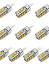 3W G4 Ampoules Mais LED T 24 SMD 2835 260 lm Blanc Chaud / Blanc Froid Decorative DC 12 V 10 pieces