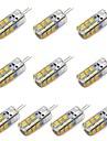 feux de mais conduit g4 t 24 smd 2835 260 lm blanc chaud / blanc decoratif 12 V CC 10 pcs