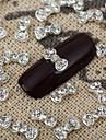 10st 3d bling crystal båge rhinestone bowknot nail art legering smycken glänsande manikyr smycken