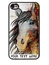 personnalise cas de telephone - le cas conception de cheval en metal pour iPhone 4 / 4S