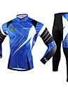 FJQXZ® Cykeltröja och tights Herr Lång ärm Cykel Andningsfunktion / Håller värmen / Snabb tork / Ultraviolet Resistant Klädesset/Kostymer