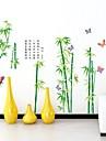 Wall Stickers Väggdekaler, vitalitet grön bambu pvc väggdekorationer