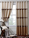 Country Curtains® Room Darkening Faux Silk with Pleated Band lined Curtains Drapes Two Panel