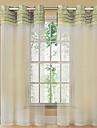 Un Panou Tratamentul fereastră Țara , Mată Sufragerie Poliester Material Sheer Perdele Shades Pagina de decorare For Fereastră