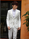 solid alb tuxedo slim fit din poliester