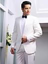 solid alb tuxedo slim fit din poliester
