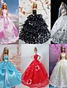 Princesse Robes Pour Poupee Barbie Rouge / Blanc / Noir / Rose / Bleu