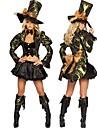 Cosplay Kostymer/Dräkter / Festklädsel Film- och TV-kostymer Festival/Högtid Halloween Kostymer svart Enfärgat Klänning / Hatt Halloween
