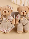 A Pair of Linen Stuffed Bear-Set of 2