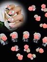10pcs perle rose fleur rose 3d strass accessoires de bricolage Nail Art Decoration