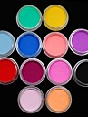 12pcs couleurs sculpture coloree pouvoir ongles en acrylique decoration d\'art