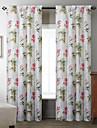 twopages® (deux panneaux) cocotier astucieux motif rideau