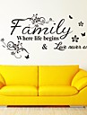 Wall Stickers Wall Decals, Family  English Words & Quotes PVC Wall Stickers