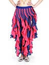 Belly Dance Wave Tassel Double Layers Practice Skirt(More Colors)