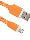 USB 2.0 Micro USB 2.0 Platt Flätad Kabel Till 15 cm Nylon