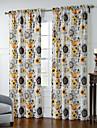 twopages® deux panneaux artistique tournesols modele rideau