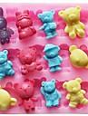 porter lapin animaux outils en forme de gateau de chocolat fondant silicone moule a cake de decoration, l11.4cm * * w10.6cm h1.4cm