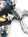 Bijoux Inspire par Attack on Titan Cosplay Anime Accessoires de Cosplay Colliers Argente Alliage Masculin