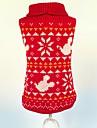 Pisici / Câini Pulovere Roșu Îmbrăcăminte Câini Iarnă / Primăvara/toamnă Fulg zăpadă Crăciun