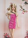 Princesse Costumes Pour Poupee Barbie Rouge Robes Pour Fille de Doll Toy