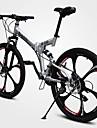 Velo tout terrain Cyclisme 21 Vitesse 26 pouces/700CC 50mm Unisexe Adulte Frein a Double Disque Fourche a Suspension Double Suspension