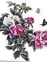 1 pcs impermeables multicolores couleurs de pivoine serie sur les fleurs papillon agrandir motif tatouage autocollants
