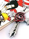 Smycken Inspirerad av Naruto Cosplay Animé Cosplay Accessoarer Halsband Röd / Silver Legering Man