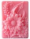 în formă de floarea soarelui instrumente de decor fondantă de tort de ciocolată silicon mucegai tort, l9.2cm * w6.8cm * h3cm