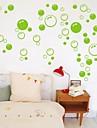 väggdekorationer Väggdekaler, gullig färgrik pvc löstagbara skönhets grön bubbla väggdekorationer.