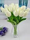 Une succursale Plastique Polyurethane Tulipes Fleur de Table Fleurs artificielles