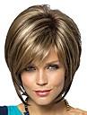 kvinnors fashionabla korta mörkbruna blonda blandade färg peruker med sido Hjälp