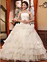 Da ballo Abito da sposa Lungo Senza spalline Organza con Con applicazioni / Perline / Fiore decorativo
