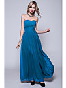 Floor-length Chiffon Bridesmaid Dress Sheath/Column Strapless