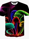 les hommes de premier ordre imprime floral t-shirt a manches courtes de la mode causual