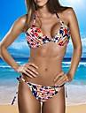 Dnyh® Women\'s Split sexy flag Bikini swimwear