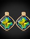 swa brillant strass topaze mystique pierre de fantaisie boucles d\'oreille de luxe de fantaisie bijoux pour femmes de haute qualite plaque or 18k
