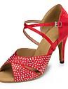 Scarpe da ballo - Non personalizzabile - Donna - Latinoamericano - Stiletto - Satin - Nero / Rosso