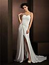 Lanting Bride® Linea-A / Da principessa Taglie forti / Petite Abito da sposa Strascico di corte A cuore Chiffon con