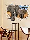 miljö afrikansk elefant 3d väggklistermärke