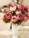 8 tetes style moderne fleurs simulation de tissu de soie de pivoine multicolore option