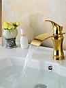laiton cascade de la mode de bain ti-PVD robinet d\'evier - or
