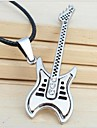 Tina -- Fashion Titanium Guitar Leather Necklace in Party