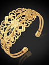 u7® brățări de epocă pentru femei placat cu aur de aur 18k indesata umplut de bijuterii brățară manșetă