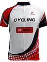 JESOCYCLING® Cykeltröja Herr Kort ärm Cykel Andningsfunktion / Snabb tork / Ultraviolet Resistant / Back Pocket Tröja / Överdelar100%