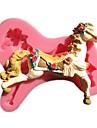 karusell merry-go-round häst socker fondant tårta formar choklad mögel för köket bakning tårta verktygs dekoration