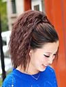 Naturlig svart (#1B) / Mörkbrun (#2) / Ljust rödbrun (#30) / Mörk rödbrun (#33) syntetisk Hästsvans Vågigt Micro Ring Hair Extensions