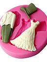 mariage moules de pate robe de la gomme, des outils de decoration de gateau