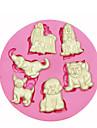 multi söta hund silikonform kaka Utsmyckning silikonform för fondant godis hantverk smycken pmc harts lera