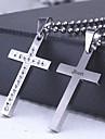 personlig gåva gjutning kors rostfritt stål hänge halsband graverad smycken