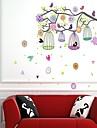 Wall Stickers Väggdekaler, stil färgstarka fågelbur pvc väggdekorationer